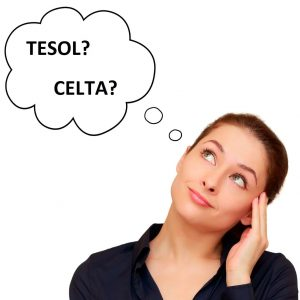 cô gái phân vân nên chọn khóa học TESOL hay CELTA